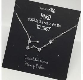 COLLAR PLATA CONSTELACION TAURO