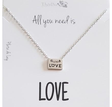 COLLAR PLATA LOVE