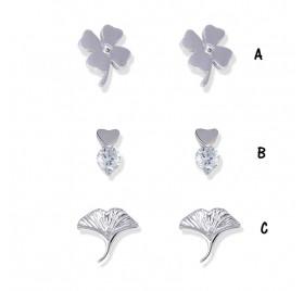 Pendientes Plata Flores PE402 de Anartxy