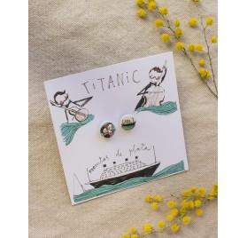 Pendientes lenteja Titanic de Manitas de Plata
