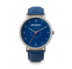 SPORTY METALLIC IRON BLUE 40MM de Mr. Boho