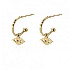 Pendientes Little Hoop Ojo D de Anartxy