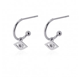 Pendientes Little Hoop Ojo P de Anartxy