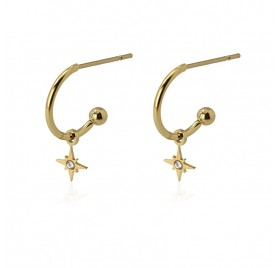 Pendientes Little Hoop Flash D de Anartxy