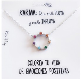 COLLAR PLATA KARMA MULTICOLOR