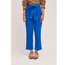 Pantalón tobillero con pinzas y lazada azul SP21SHE58 DE COMPAÑIA FANTASTICA