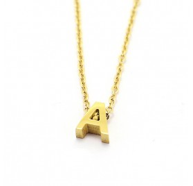 Collar Letra en Acero, de Anartxy